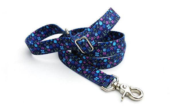 Blueberry Fields Polyester Adjustable Handle Leash