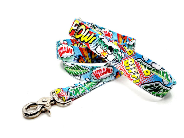 Comic Pop Polyester Webbing Adjustable Handle Leash