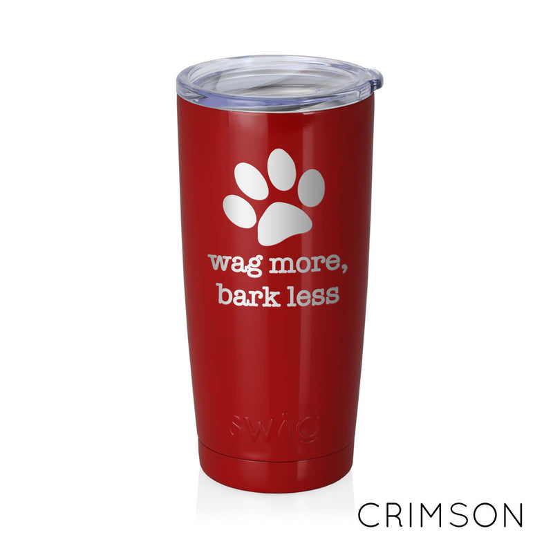 DOG WISDOM Laser Engraved SWIG® 20oz Tumbler - Flying Dog Collars