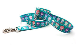 Dapper Skulls Polyester Adjustable Handle Leash