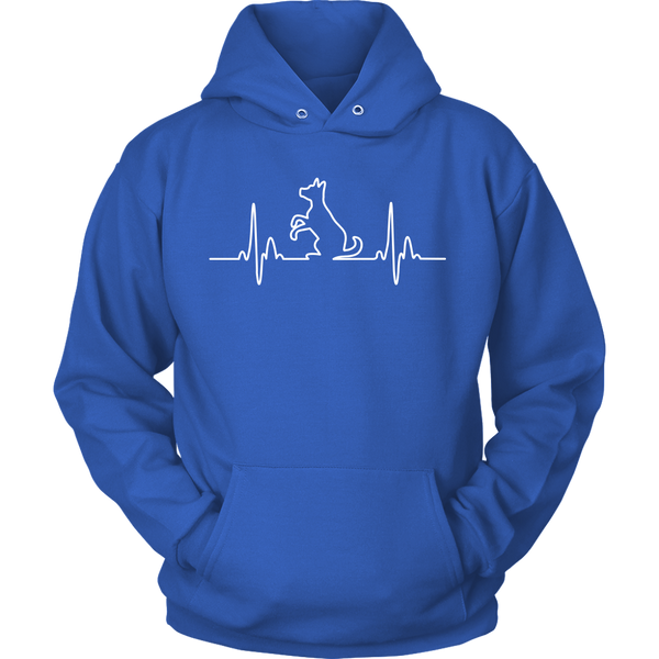 Dog Heartbeat Unisex Hoodie - Flying Dog Collars