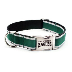 Philadelphia Eagles Dog Collar with Laser Etched Aluminum Buckle - Flying Dog Collars
