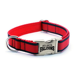 Atlanta Falcons Dog Collar with Laser Etched Aluminum Buckle - Flying Dog Collars