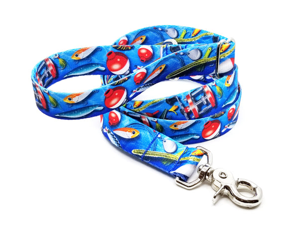 Gone Fishin' Polyester Webbing Adjustable Handle Leash