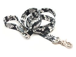 Hawaiian Black Adjustable Handle Leash
