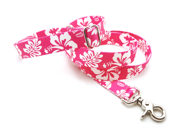 Hawaiian Pink Adjustable Handle Leash