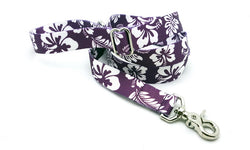 Hawaiian Purple Adjustable Handle Leash