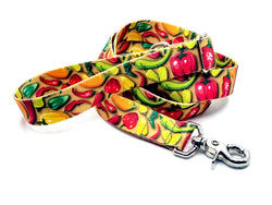 Hot Peppers Polyester Webbing Adjustable Handle Leash