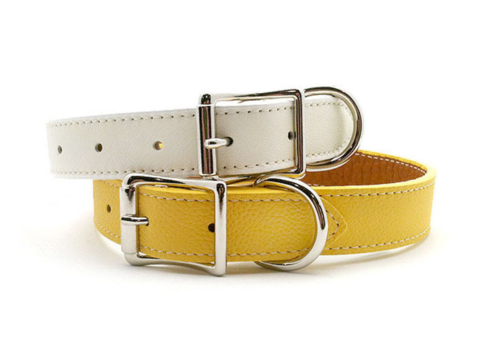 Italian Leather Dog Collar