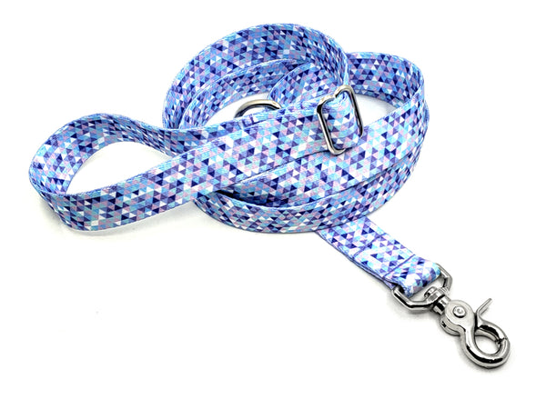 Lavender Mosaic Polyester Webbing Adjustable Handle Leash