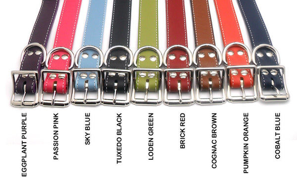 Italian Leather Dog Collar - Flying Dog Collars