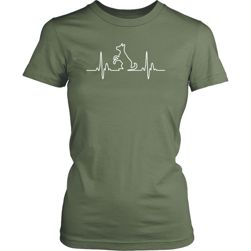 Dog Heartbeat Ladies Tee - Flying Dog Collars
