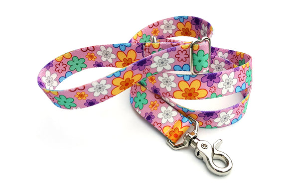 May Flowers & Daisies Polyester Adjustable Handle Leash
