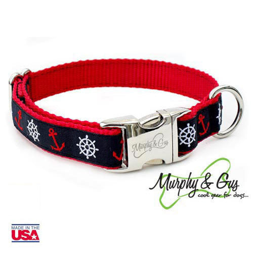 Nauti Dog Dog Collar with Personalized Buckle - Flying Dog Collars
