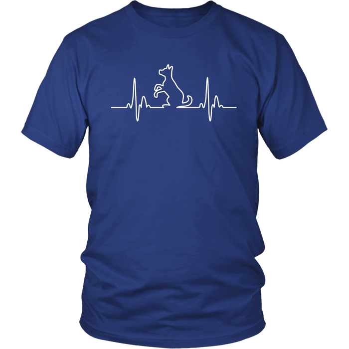 Dog Heartbeat Unisex Tee