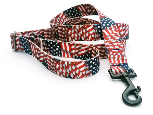 Patriotic Tribute Polyester Webbing Adjustable Handle Leash