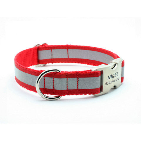 ... Reflective Dog Collar with Personalized Buckle – Flying Dog Collars