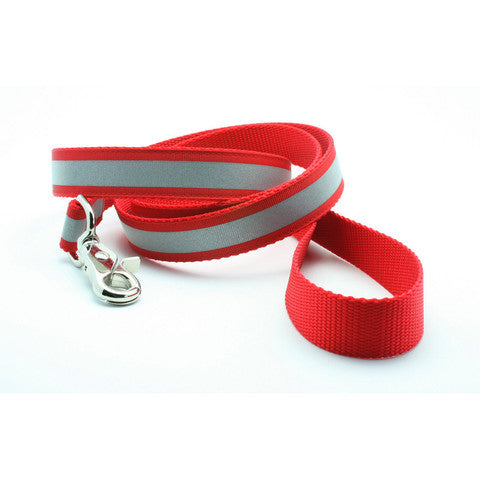 Red Reflective Dog Collar with Laser Engraved Personalized Buckle - Flying Dog Collars