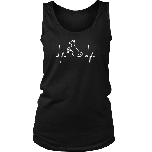 Dog Heartbeat Womens Tank - Flying Dog Collars