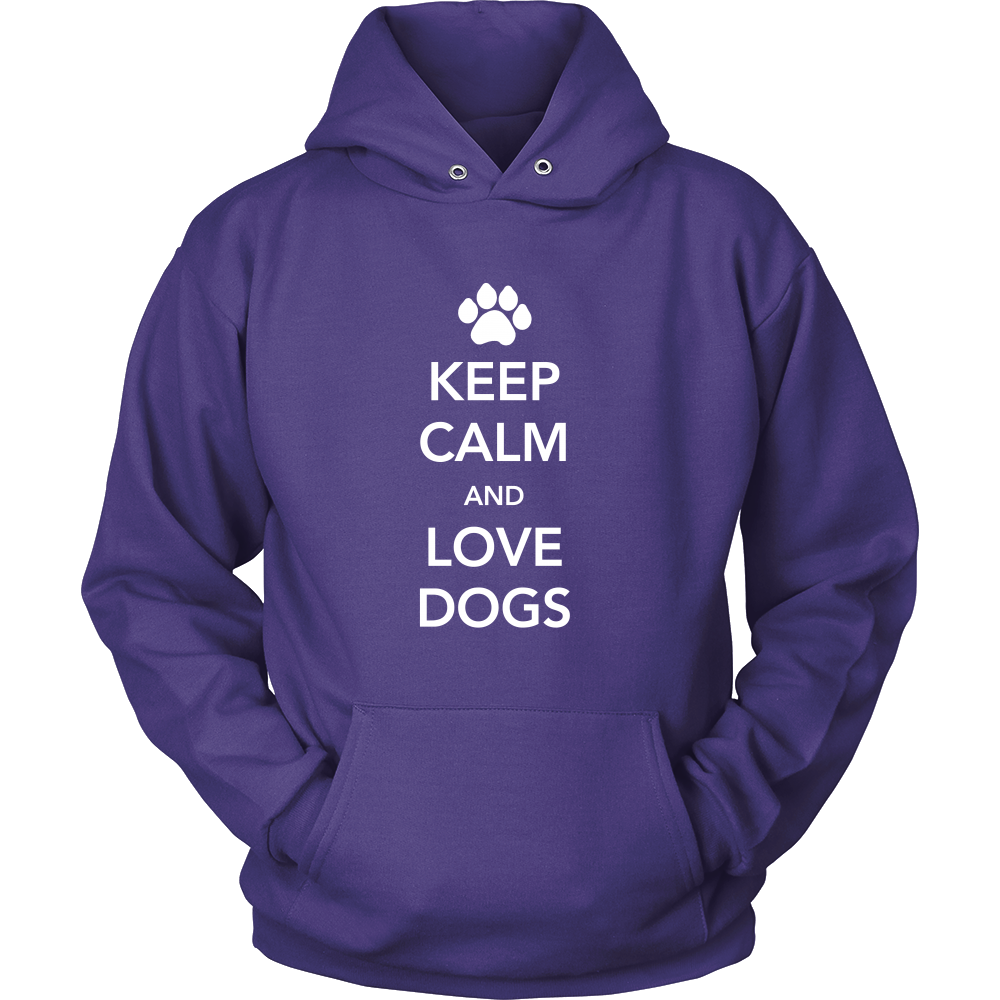 Keep Calm and Love Dogs Hoodie - Flying Dog Collars