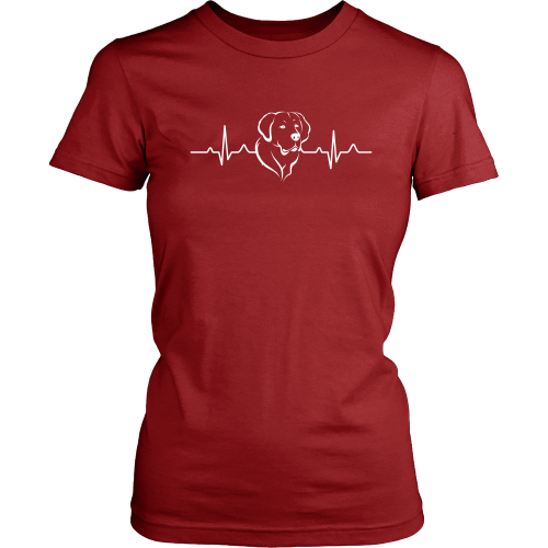 Golden Retriever Heartbeat Women's T-Shirt - Flying Dog Collars