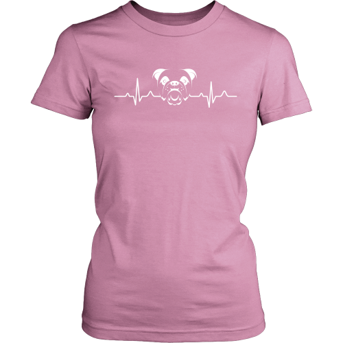 Bulldog Heartbeat Women's T-Shirt - Flying Dog Collars