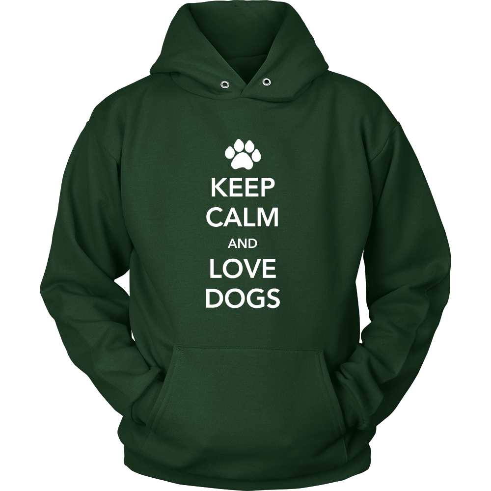 Keep Calm and Love Dogs Hoodie