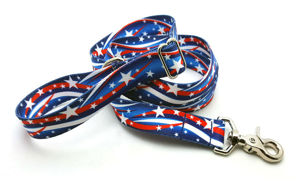Star Spangled Adjustable Handle Leash