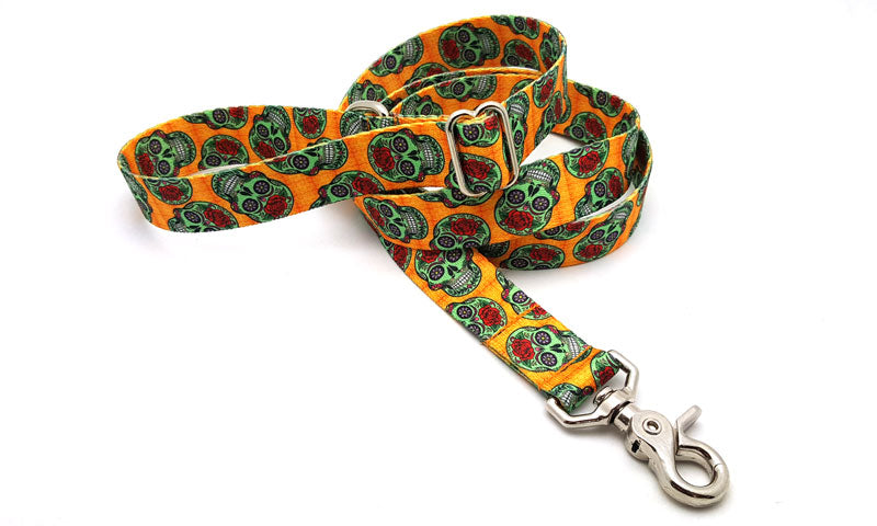 Sugar Skulls Adjustable Handle Leash
