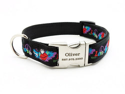Tattoo Wings Dog Collar with Personalized Buckle - Flying Dog Collars