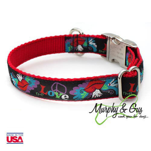 Tattoo Wings Designer Dog Collar - Flying Dog Collars