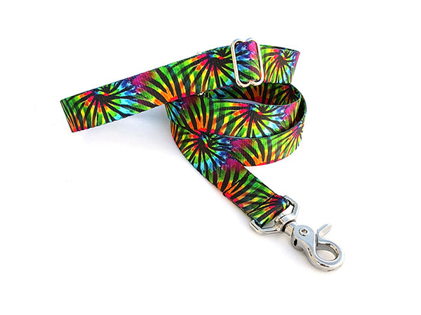 Tie Dye Stripes Adjustable Handle Leash