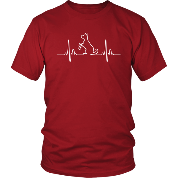 Dog Heartbeat Unisex Tee - Flying Dog Collars