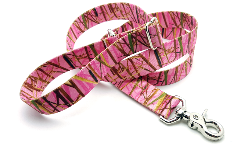 Waterfowl Camo PINK Adjustable Handle Leash
