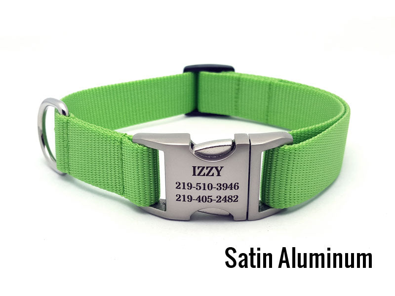 Personalized Buckle Nylon Dog Collar
