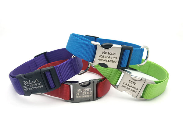 Personalized Buckle Nylon Dog Collar - Flying Dog Collars
