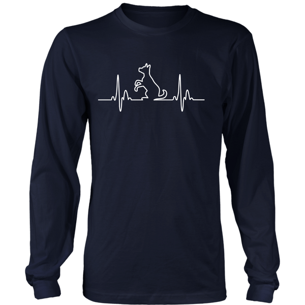 Dog Heartbeat Long Sleeve Tee - Flying Dog Collars