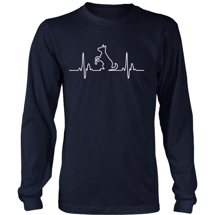 Dog Heartbeat Long Sleeve Tee