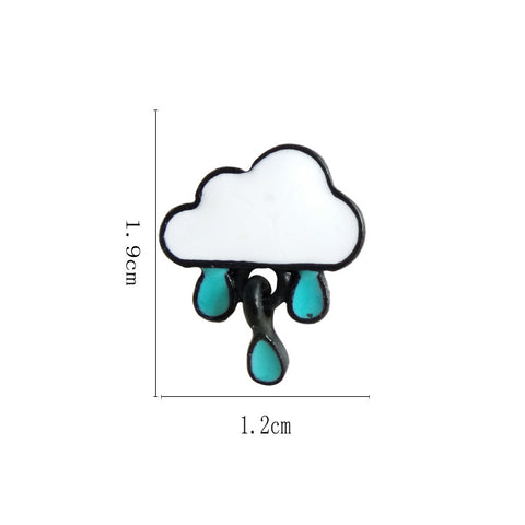 Text - Rainy Cloud Stud Earrings