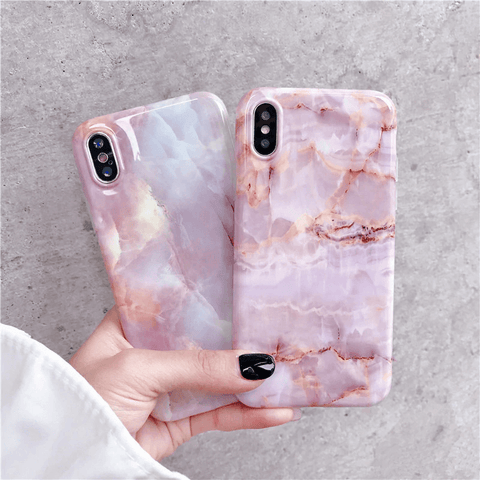 Lush Cove Coral Marble iPhone Case