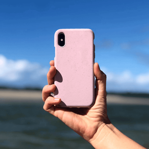 Pink Eco Friendly iPhone Case Beach