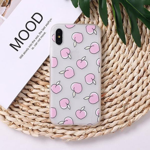 Peachy Passion iPhone Case Straw Mat