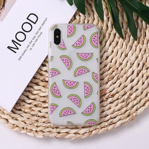 Watermelon Print iPhone Case