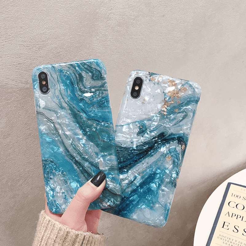 Glitter Marble iPhone Case - LushCove