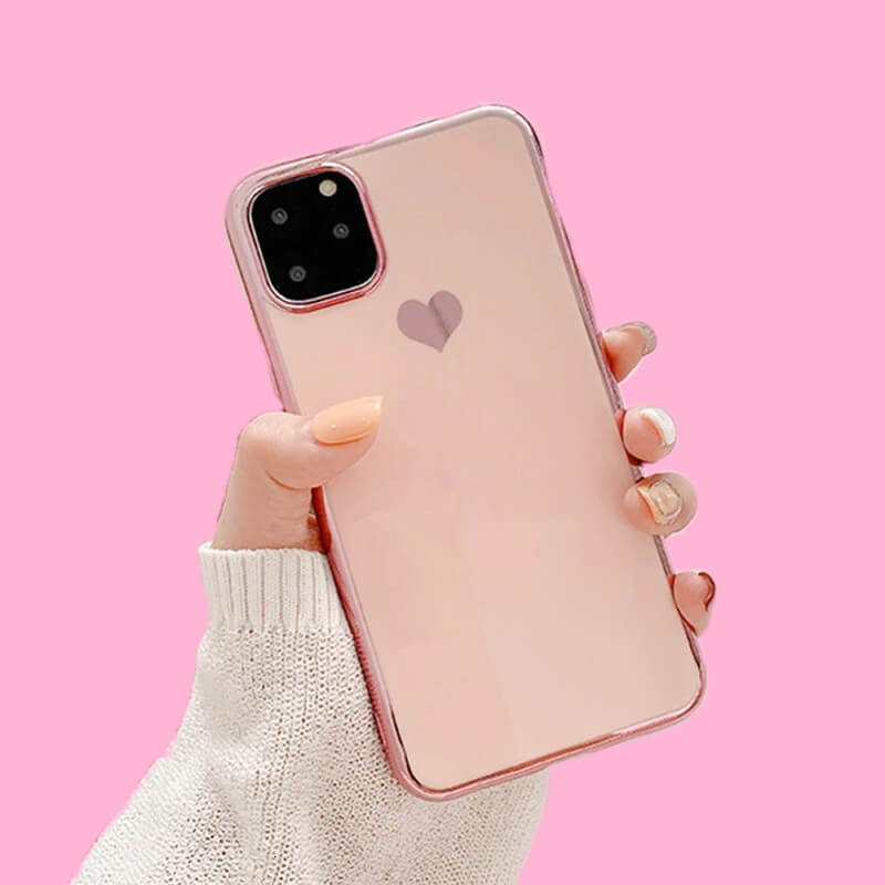 Lush Cove Love Heart Plated iPhone Case
