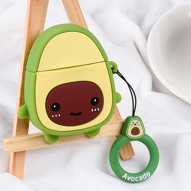 Happy Avocado AirPods Case