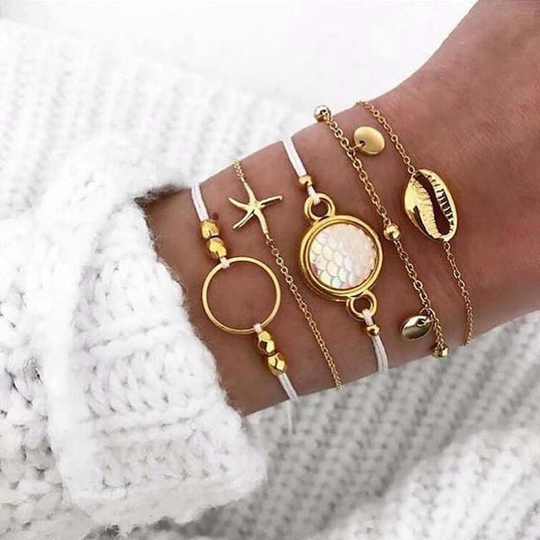 Beach Vibes 6 Piece Bracelet Set