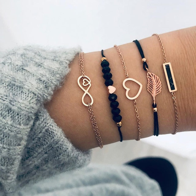 Love & Peace 6 Piece Bracelet Set