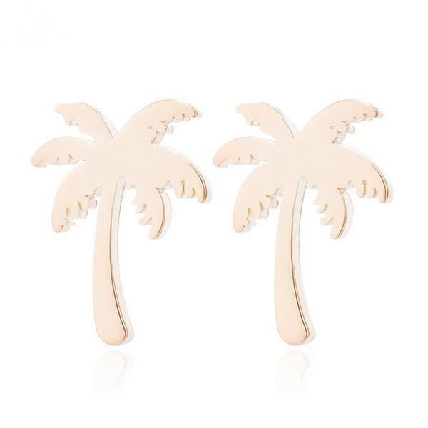 lushcove - Coconut Palm Tree Stud Earrings