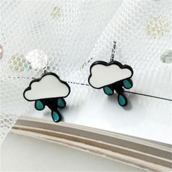 lushcove - Rainy Cloud Stud Earrings